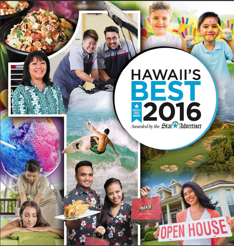 2016 Hawaii's Best by Honolulu Star-Advertiser