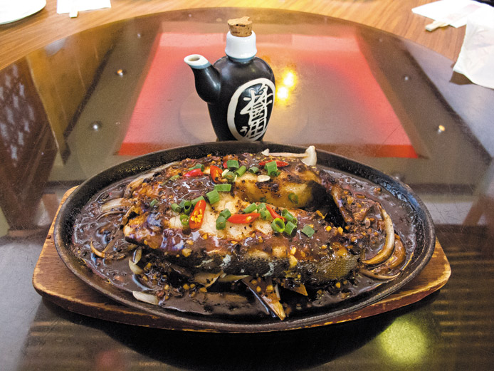 Little Village's Sizzling Black Cod Steak ($28.95)