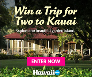 Enter to win a trip for 2 to Kauai
