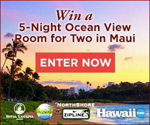 Enter to win a Royal Lahaina Resort Royal Experience Package for Two
