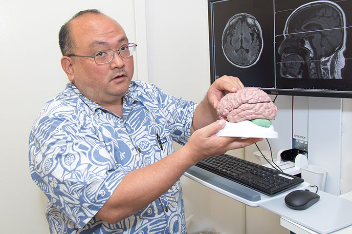 Dr. Beau Nakamoto, a neurologist at Straub Medical Center and Associate Professor of Medicine at the University of Hawai'i at Mānoa John A. Burns School of Medicine