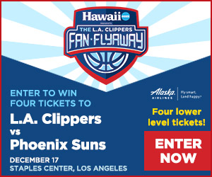 Enter to win four tickets to see L.A. Clippers vs Phoenix Suns in Los Angeles