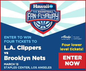 Enter to win four tickets to see L.A. Clippers vs Brooklyn Nets in Los Angeles